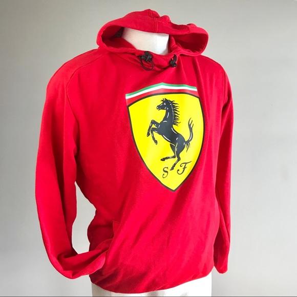 3c47a6b2e90c Puma Ferrari men red big shield hoodie sweatshirt